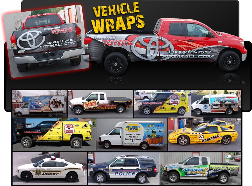 Commercial Vehicle Wrap Services Available in Gettysburg PA - Advanced Graphix